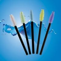 Free Shipping Colorful Disposable Eyelash Brush Mascara Wands Applicator 100pcs Per Bag