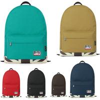 "Candy color blocked Nylon fabric women backpack school bags mochila feminina men's backpack 14"" laptop bag 41*29cm"