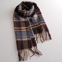 Fashion  pure  fashion check business casual general all-match  muffler     wool scarf