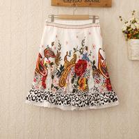 425 2014 New Arrival Top Quality Women Zipper Waist Skirt Fashion Brand Lady knee length skirts Women lace flower Skirts