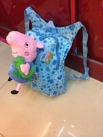 2014 New Arrival Quality Cute 3D Peppa Pig Plush Backpack Schoolbag Child PRE School Kid Cartoon Bag B-0020
