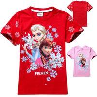 Meninas vestir,Teenage girls fashion fantasia elsa Anna frozen girl t shirt,Retail all for children's clothing and accessories