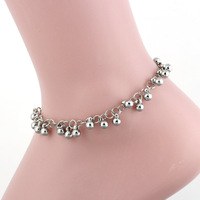 2014New Arrival Free Shipping 10pcs/lot Fashion Lady's 10mm Fashion  Metallic Anklets33014#
