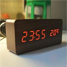 Wholesale wood wooden clocks,Alarm Clock ,Digital clocks free shipping via DHL(China (Mainland))