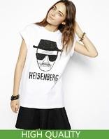 Plus Size XXL New 2014 Fashion Women Clothing Letter Heisenberg Print T Shirt Women T-Shirts Short Sleeve Cotton Casual T Shirts