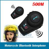 Nest 500M Motorcycle BT Bluetooth Multi Stereo Interphone Headsets headset Helmet Intercom Handfree 2pcs/lot