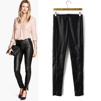 Autumn&Winter, Fleece Thicken PU Leather Women Pencil Pants