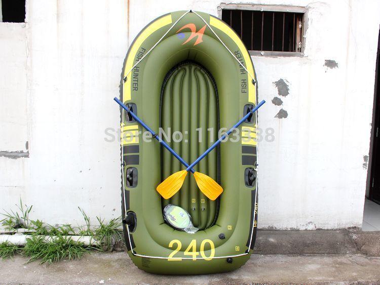 HOT 2014 summer 3 persons green PVC inflatable dinghy canoeing fishing boat Air cushion swimming Drifting boat kayak(China (Mainland))