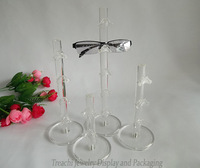 White Clear Acrylic Glasses Display Set (2 Pair,3 Pair, 4Pair, 5Pair ) Props Sunglasses Show Holder Plastic Stand Rack Frame