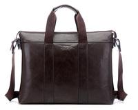 Men's Messenger Bags PU Leather Shoulder Bags Brand Briefcase for Business Men Bolsas Vintage Handbag 15-inch Computer Bag