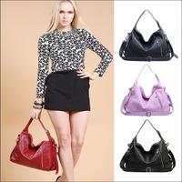 Good quality Women Female Casual Handbag Shoulder Bag Lady Diagonal Handbags With Genuine leather 4 colors NO1132 Free shipping