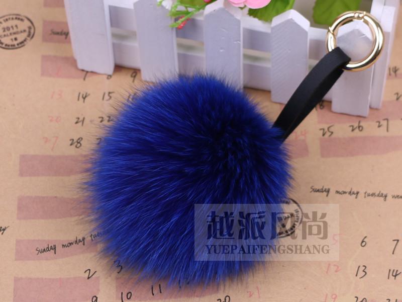 new 2014 top import fox fur ball bag accessories/car key chain/DaGua ACTS fashion(China (Mainland))