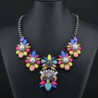2014 New Shourouk Necklace Design Wholesale Fashion Necklace Costume Chunky Chain Choker Necklaces & pendants Statement 8202