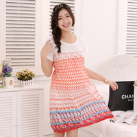 2014 Summer Dress Pregnancy Chiffon Maternity Dresses for Pregnant Surrogacy Dungarees Print O-Neck Lace Motherhood Clothing