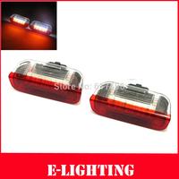 White+Red LED Courtesy Front/Rear Side Door Light for Volkswagen VW Golf5 6 Golf Plus Jetta Passat CC