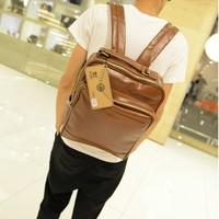 Backpacks Fashion vintage backpack PU bags mochila couro printing backpack laptop bag travel bag  mochila couro feminina