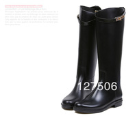 Free shipping fashion Knee-high women rain boots girl rainboots females waterproof rain boots gumboots weliies women