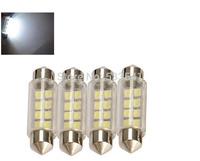 free shipping 4 x 42mm 8 3528-SMD LED DC 12V LED Festoon Car Interior Dome Lights Bulbs