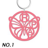 Custom Monogram keychain,Handbag Charm,Butterfly Whale Crab round Initials key ring, Personalized acrylic keyring