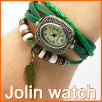 Minimum order 2pcs women fashion style quartz round leather chain watches ladies watch wristwatch  wholesale