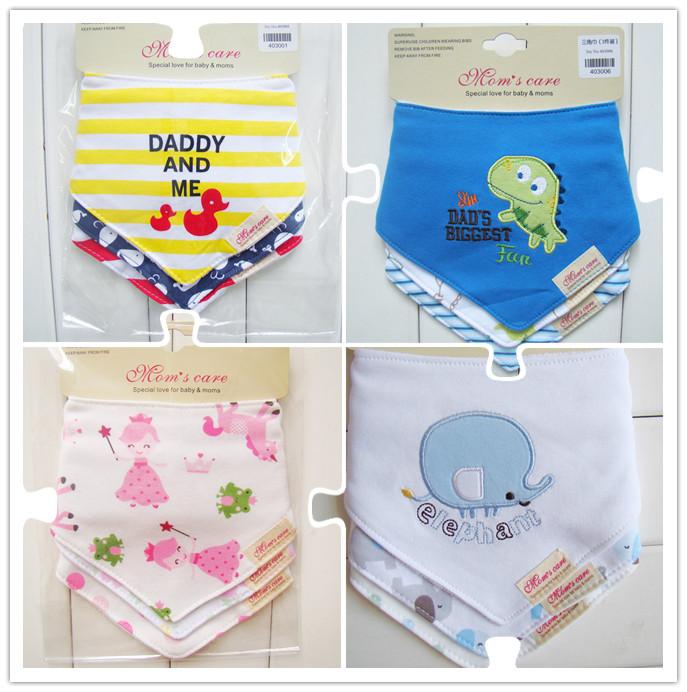 Free shipping 3pc/lot 100% cotton baby boys and girls bibs baby towel bandanas chiscarf ldren cravat infant towel(China (Mainland))
