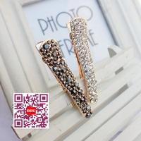 G1091 free shipping 2014  Hair accessories elegant head wear black white crystal hair clips barrettes