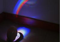 LED Lamp Night Room Romantic Rainbow Projector Light Room Decoration Color E free shipping