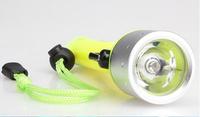 240 LM CREE Q5 LED Waterproof Diving Flashlight Torch Black Super Bright  free shipping