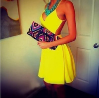 Women colorful print sleeveless and blackless mini dress cute vestidos casual  femininos vestido de festa plus size
