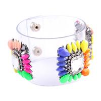 New 2014 shourouk Crystal Cuff bracelets & bangles PVC shourouk Bracelet fashion for women gifts