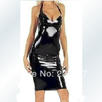 Free shipping Latex one-piece dress latex clothing gel coat latex dress black body shaping hot sailing