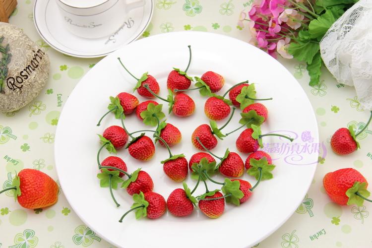 Online kopen wholesale kunststof aardbeien uit china kunststof aardbeien groothandel - Keuken decoratie model ...