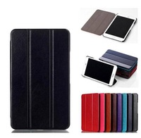 Fashion 3-fold Crazy-horse PU Leather Magnetic Closure Book Cover Case for Asus MeMO Pad 8 ME581CL Me581,with stand,1pc/lot