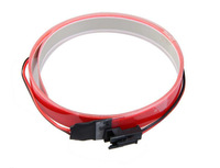12V Bike Flexible EL Glow Neon Light Bar Strip Wire with Controller Red 1M