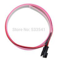 Pink Bike Flexible EL Glow Neon Light Bar Wire Strip with Controller 1M 12V