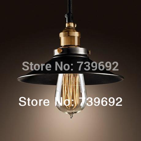 dia.22*H11cm North American style Vintage nostalgic bar table light bulb black iron pendant lights single bar lamps(China (Mainland))