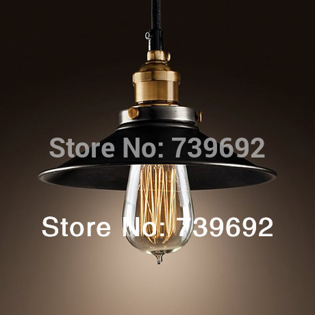 dia.22*H11cm North American style Vintage nostalgic bar table light bulb black iron pendant lights single bar lamps(China (Mainland))