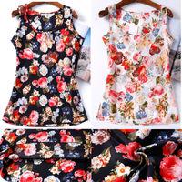2015 Summer Women Tops Shirt 16 Styles Blusas Femininas Plus Size Flower Print Cheap Women Clothing China Female Blouse Shirt