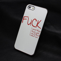 1pcs Hot Sale New Arrive Promotion Painted Fonts fuck style hard back cover case for Iphone 4 4S 5 5s W096
