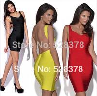 11 Colors, XS-XXXL 2014 New Summer Strap Women Dress Lady Clothing Sexy Bandage Dress Mini Slim Bodycon Backless Dresses t510