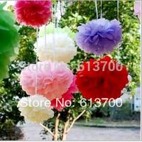 "8"" 20CM 500 Pcs/Lot Tissue Paper Pom Poms Decorative Flower Balls-DIY Gift 3D Wall Wedding bridal Shower Party Home Decoration"