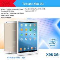 Teclast X98 3G/WCDMA  9.7 inch IPS Retina Android4.2 GPS  Tablet pc intel Bay Trail-T 3735D/Quad core/1.83GHz 2GB/32GB 5.0MP Cam