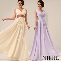 Custom made long Evening Dress 2014 New Arrival v-neck carpet Elegant Evening Dresses Formal Evening Dress vestido de festa