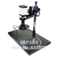 2.0MP 100X  Industry Microscope Camera VGA USB AV TV Video Output  + C-Mount  Lens + Big Size Stand Holder + 40 LED Ring Light