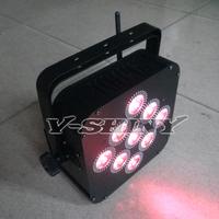 New Arrival RGBWA 5-IN-1 battery & wireless dmx led flat par light