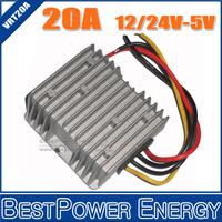 Wholesale 10pcs/lot DC to DC Step Down Power Converters Voltage Converter 24V-5V, 12V-5V 20A 100W LED Power Supply