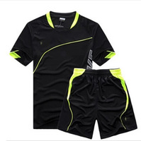 Free shipping Breathable soccer jersey set football jersey football clothing paintless soccer jersey summer sportswear set male