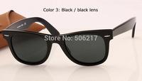 new brand name original wayfarer sunglasses 2140 901A black lens 50mm men women retro fashion designer sun glasses in box