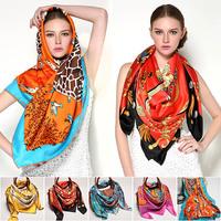 Big size 130X130 designer scarf silk blending of high quality cheap square shawl 2015 new women fashion brand cheap scarves