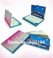 Fashion rhinestone metal card case(20pcs/lot)
